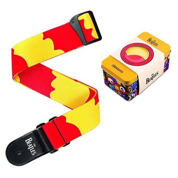 yellow and red color Guitar Strap 50BTYS01